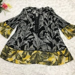 Catherines sheer Blouse Pleated Accordion 2X 22 24